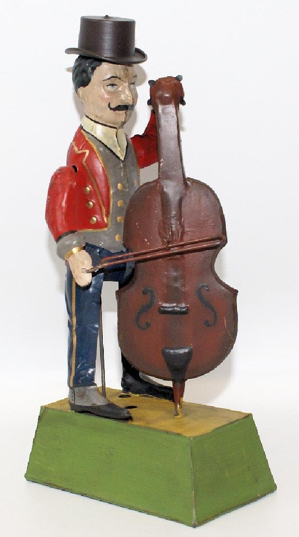Restored 1910 Guentherman Musical Cello Player