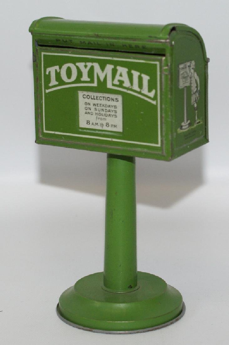 1920's Tinplate Lithographed TOY MAIL BOX, Made by