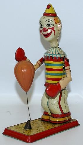 1930s Tin J. CHEIN Mechanical 'CLOWN BAG PUNCHER'