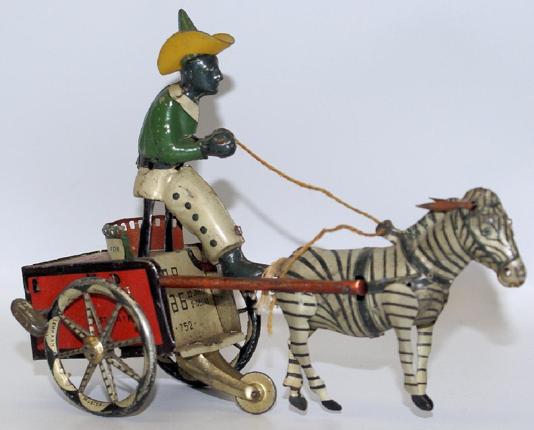 LEHMANN Tin Windup Lehmann #752 DARE DEVIL Man on Zebra