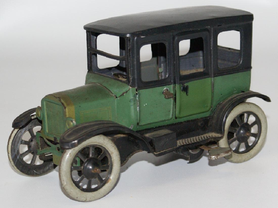 FISCHER Tinplate Windup 4-Door Green / Black Sedan Car