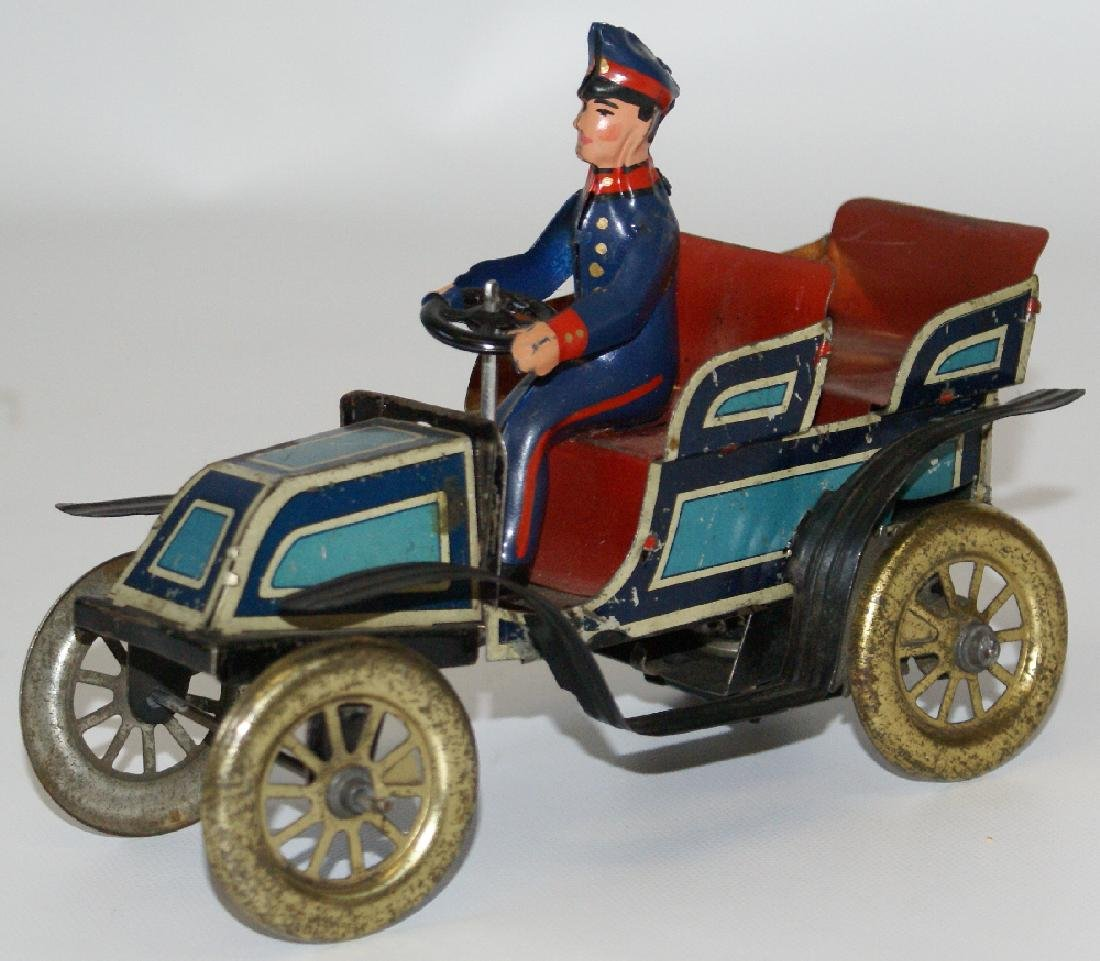Fischer Windup Touring Oldtimer Car with Driver