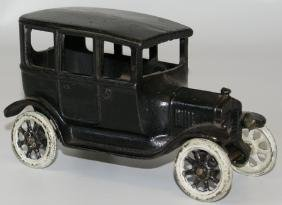 ARCADE Cast Iron Black Sedan Car - All Original