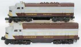 Postwar LIONEL 2373 CANADIAN PACIFIC F3 AA Diesel Train