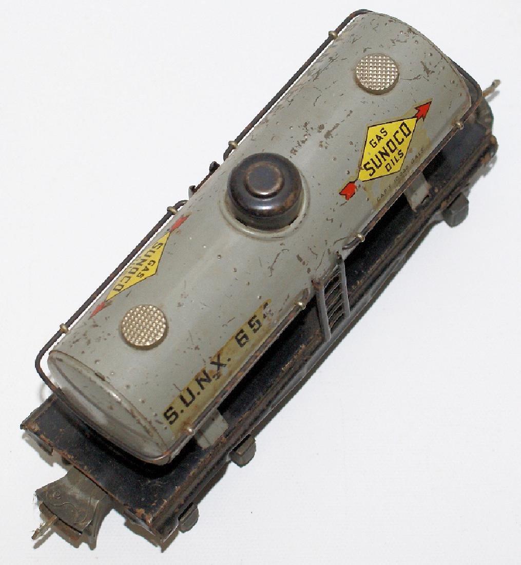 Prewar LIONEL O Gauge Tin SUNX 65 SUNOCO Oil Gas Tank - 3