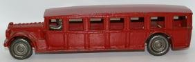"1925 Large 12"" Red ARCADE Cast Iron FAGEOL Toy Coach"