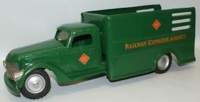 1954 BUDDY L Pressed Steel RAILWAY EXPRESS AGENCY Green