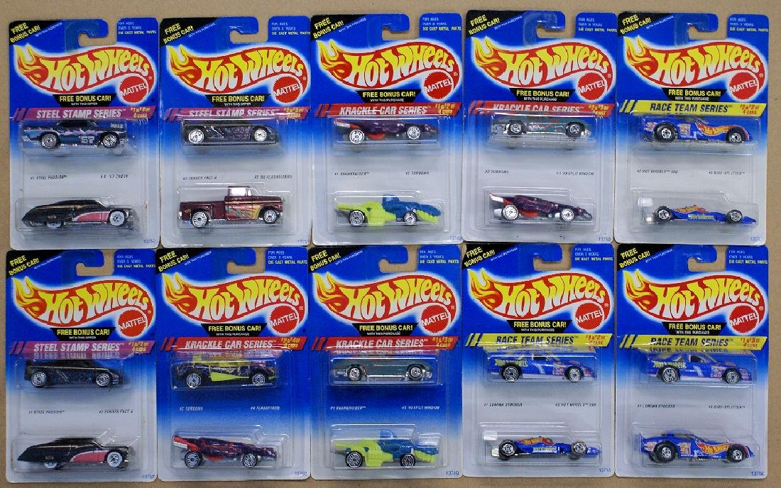 Mixed Lot of 20 (10 double packs) of 1990's HOT WHEELS