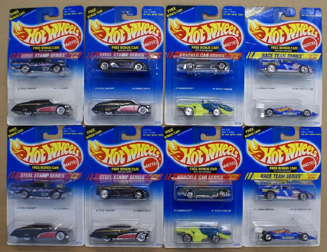 Mixed Lot of 16 (8 double packs) of 1990's HOT WHEELS