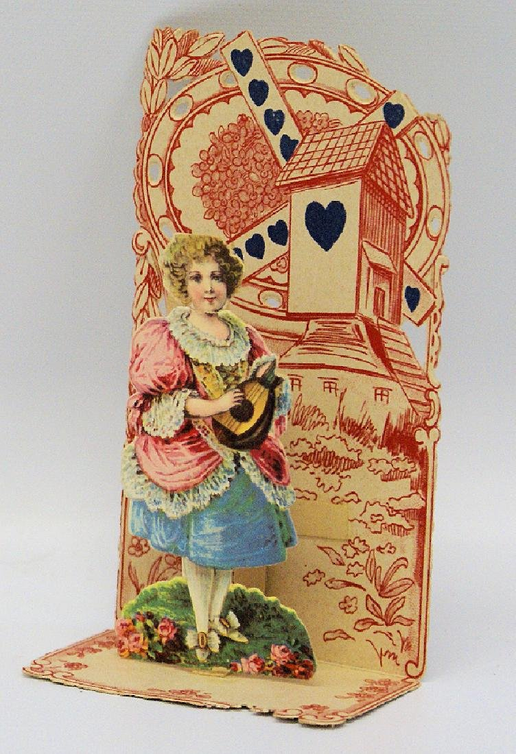 Victorian Embossed Diecut Folding Fold-Out 3D