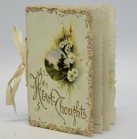 Victorian Embossed Diecut Ephemera Greeting Card Book,
