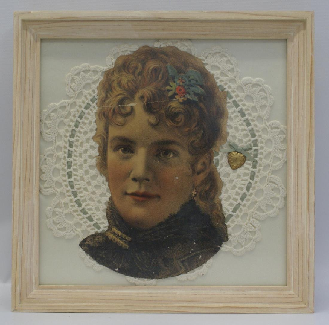 Victorian Framed 3D Chromo-Lithographed Photo &