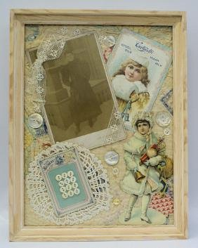 Victorian Framed Handmade 3D Photo Diecut Embossed