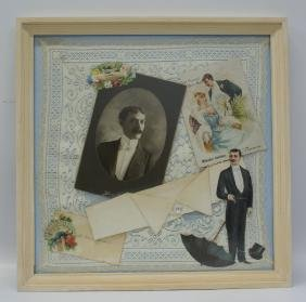 Handmade Wedding / Groom Framed 3D Photo Diecut