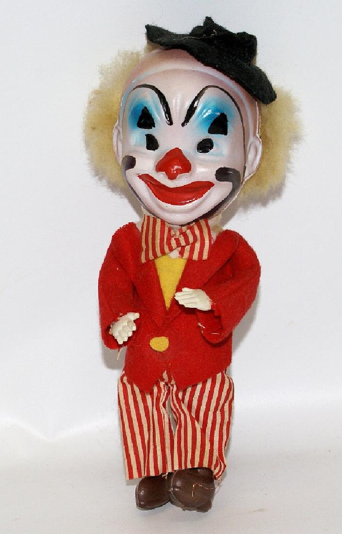 "8-1/2"" CLOWN DOLL with Celluloid Head - Marked 'Made in"