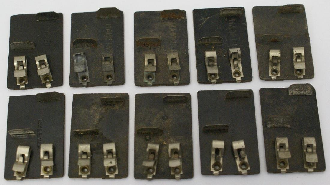 ~ Lot of 10 MARX O27 Train Track Lock-on's ~
