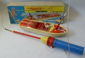 TIPPCO ELECTRO B.O. Remote Controlled Tin Toy Boat,