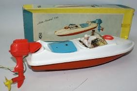 B.O. LIDO #726 Plastic Boat with motor and driver