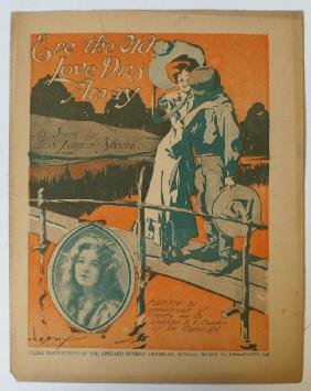 1904 'Ere the Old Love Dies Away' Sheet Music as sung