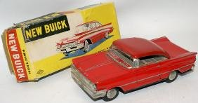 Tin Friction Red NEW BUICK Toy Car in Original Box,