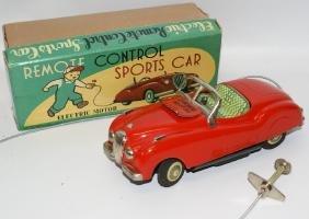Tin B.O. Remote Control Red Jaguar Sports Car by Modern