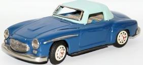 Tin Friction 2-Tone Blue Mercedes 300SL Toy Car, made