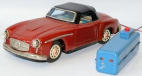 Tin B.O. Remote Control Red Mercedes 300SL Car,