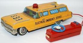 Tin B.O. Cadillac Station Wagon 'Electrical Emergency