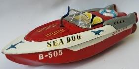 Bandai Japan Windup Friction Tin B-505 SEA DOG Race