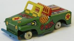 """60's 3-3/4"""" G-MEN JEEP, made in Japan"""