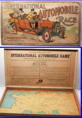 1903 INTERNATIONAL AUTOMOBILE RACE Board Game by Parker