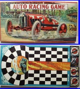 EXTREMELY 1930 AUTO RACE Board Game #4289 by Milton