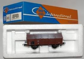 HO 1:87 ROCO 4313 Brown 4-Wheel Hinged Lid Train Car