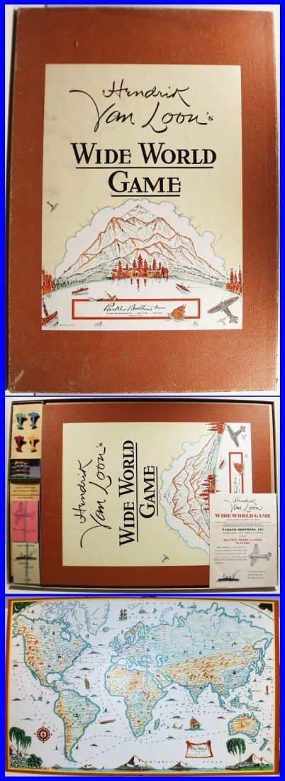 RARE 1933 Hendrik Van Loon's Wide World Game (bb9)