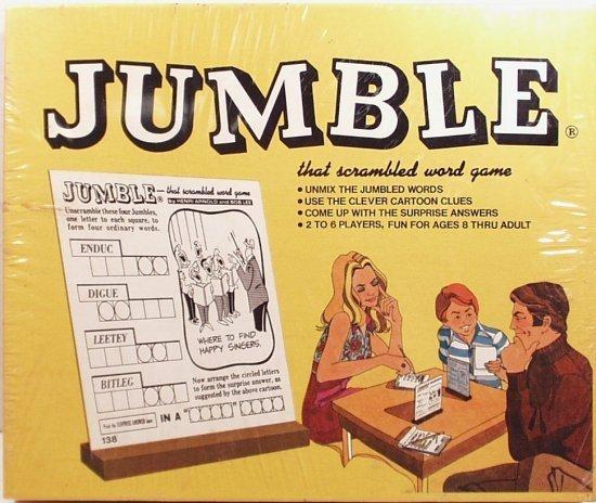1974 Jumble Scrambled Word Game, Chicago Tribune (bb10)
