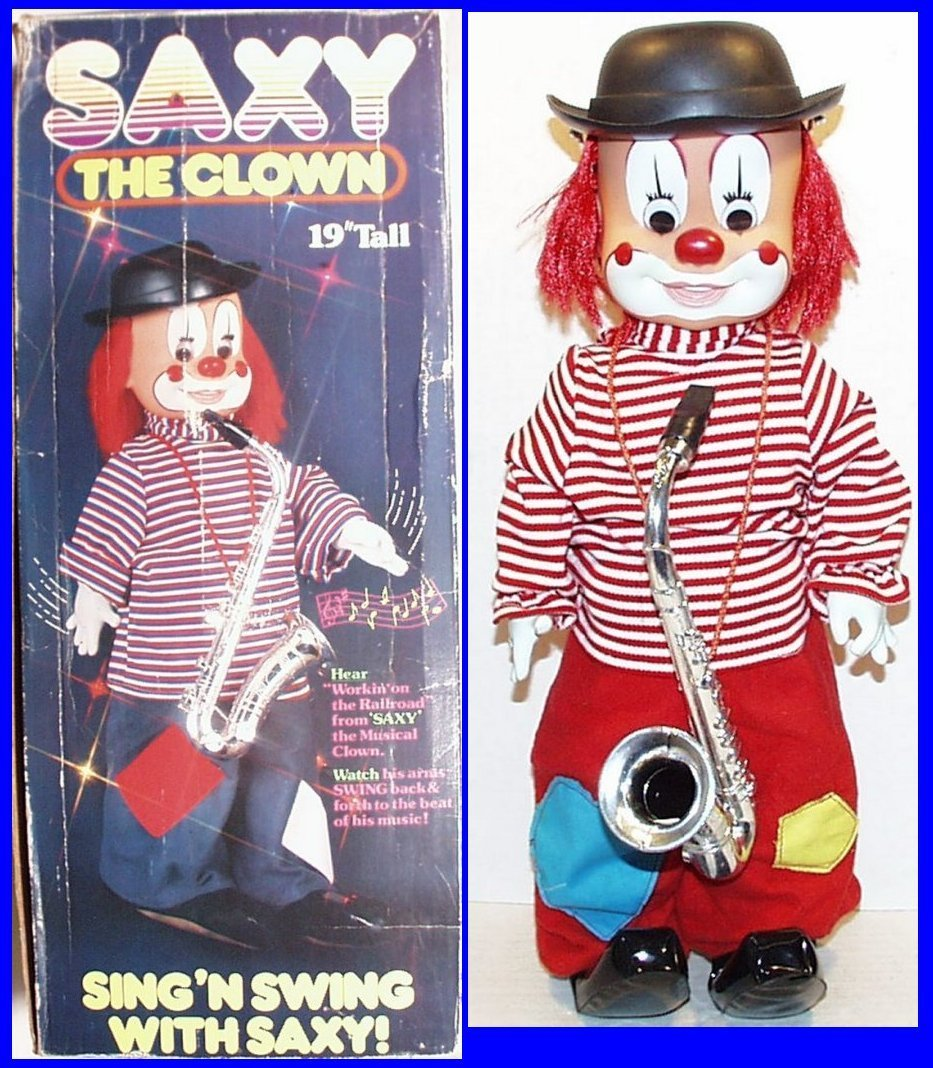 Circus Clown, Saxy, plays Working on the Railroad