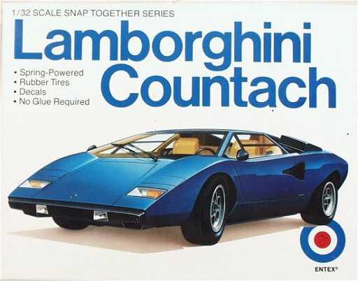 Entex 1 32 Scale Lamborghini Countach Model Kit Kit2