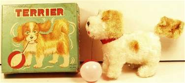 Alps Japan windup Terrier playing with ball (MBfig2ba)