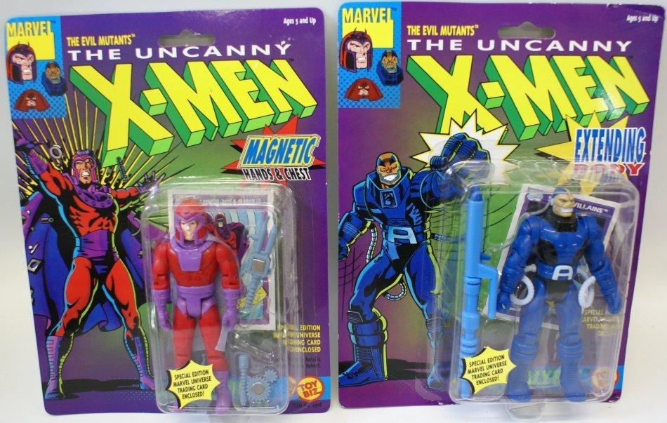 2 Vintage 1991 Uncanny X-MEN Action Figures by Toy Biz,