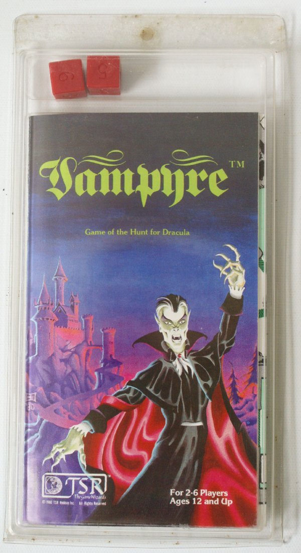 Vintage 1981 TSR Vampyre Minigame, Hunt for Dracula