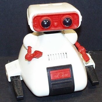 Vintage 1984 Battery Operated Dingbot Robot by Tomy,