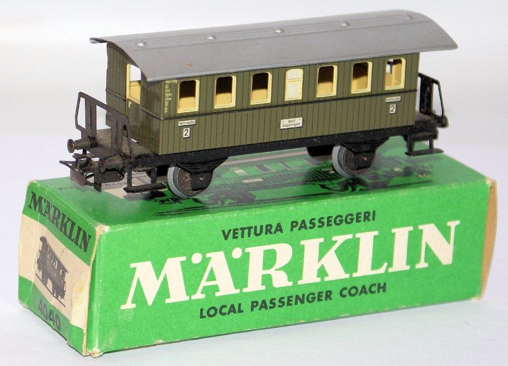 Vintage HO Scale 4040 MARKLIN Märklin Passenger Coach