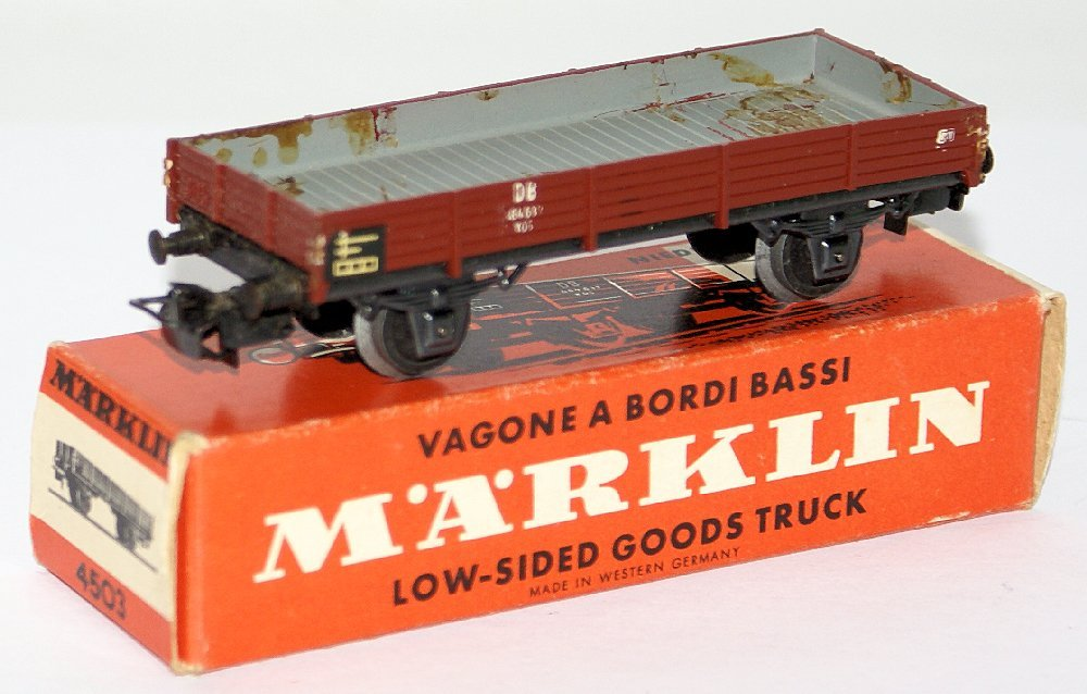 Vintage HO Scale 4503 MARKLIN Märklin Low-Sided Gondola