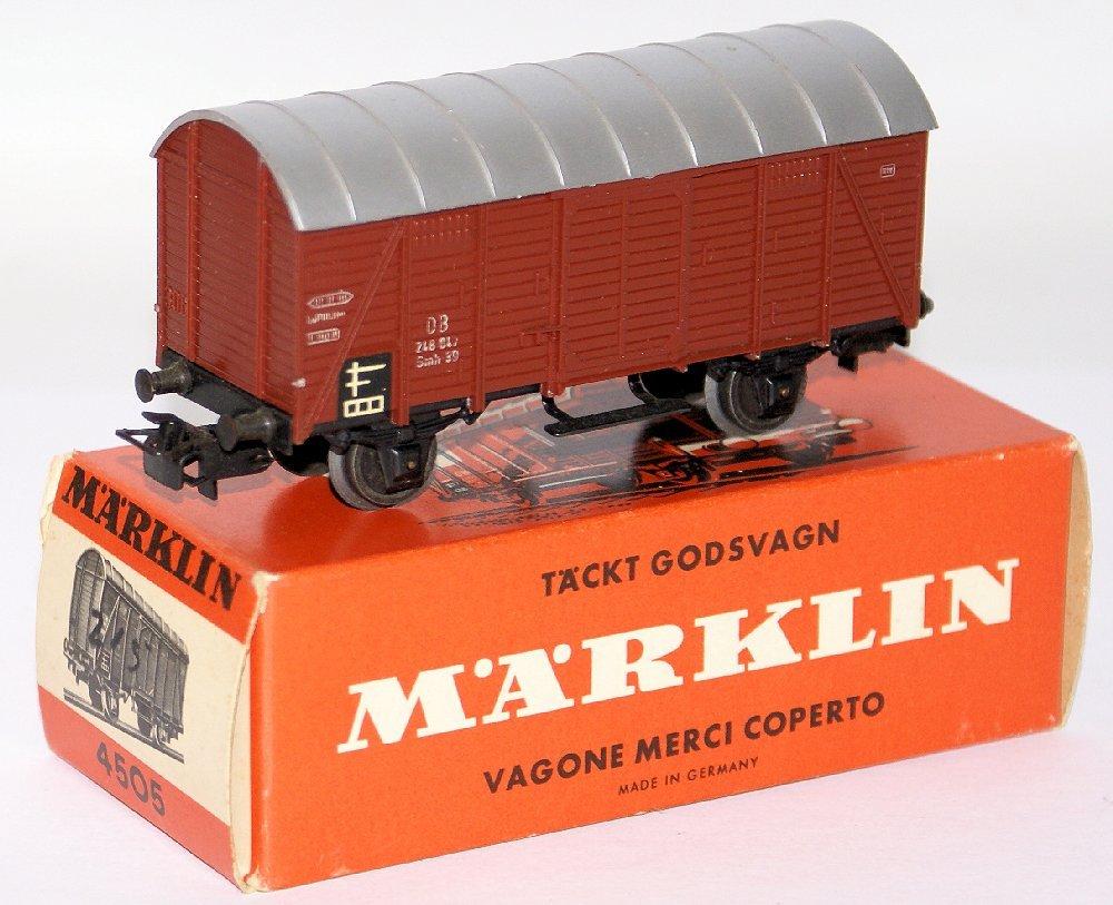 Vintage HO Scale 4505 MARKLIN Märklin DB Covered Goods