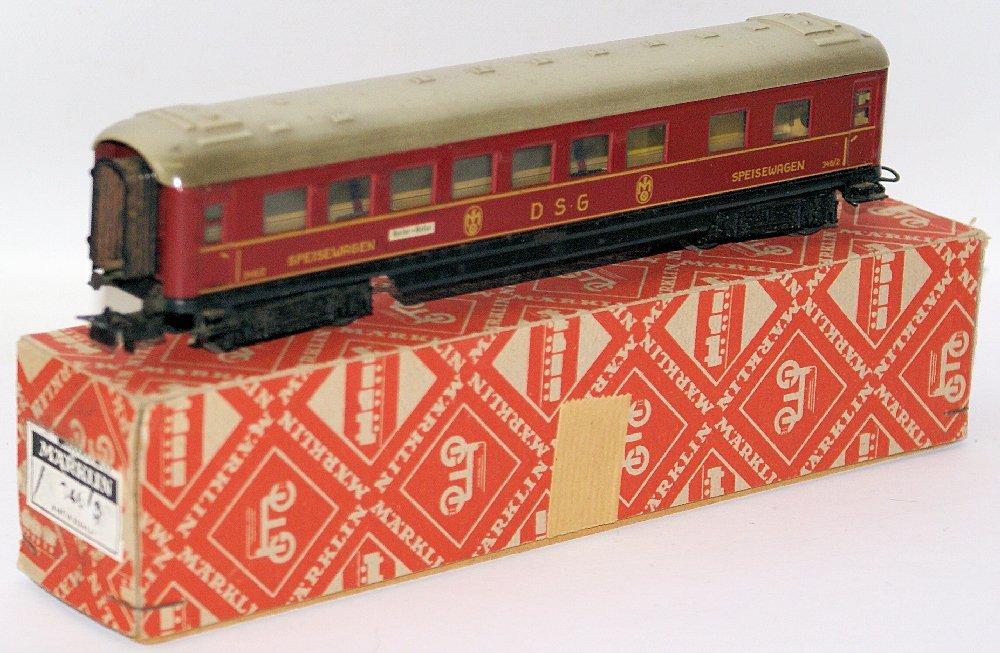 Vintage HO Scale #346/2 MARKLIN Märklin DSG Speisewagen