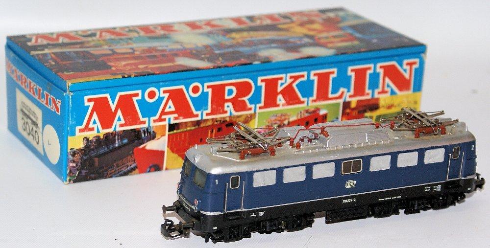 Vintage HO #3039 MARKLIN Märklin Blue 110 234-2 DB - 2