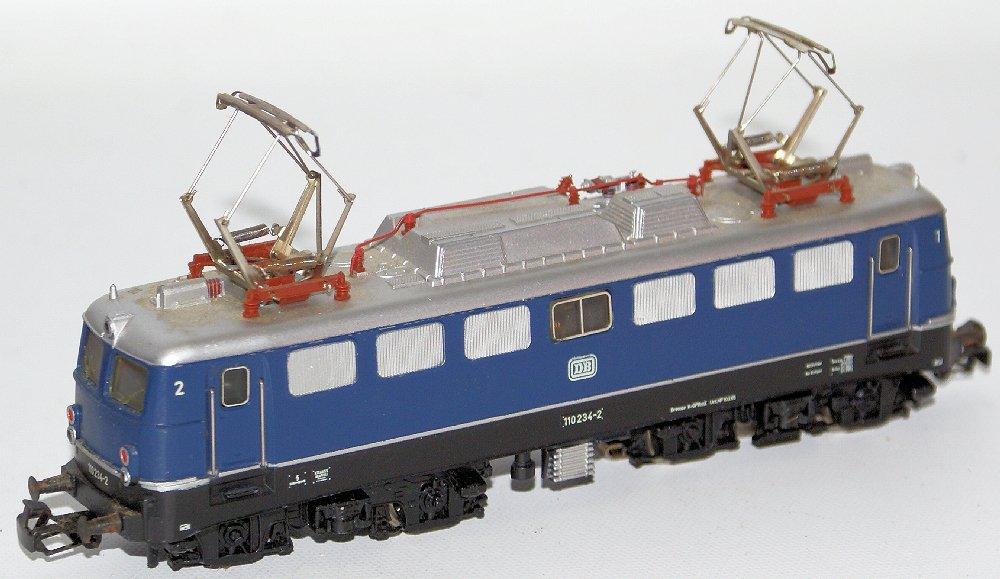 Vintage HO #3039 MARKLIN Märklin Blue 110 234-2 DB - 3