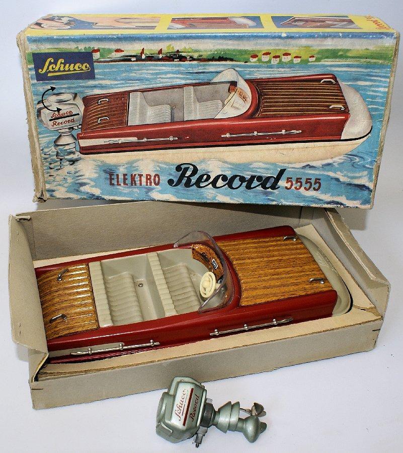 Vintage SCHUCO ELEKTRO RECORD 5555 Battery Op. Toy Boat
