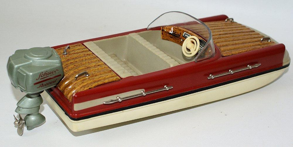 Vintage SCHUCO ELEKTRO RECORD 5555 Battery Op. Toy Boat - 2