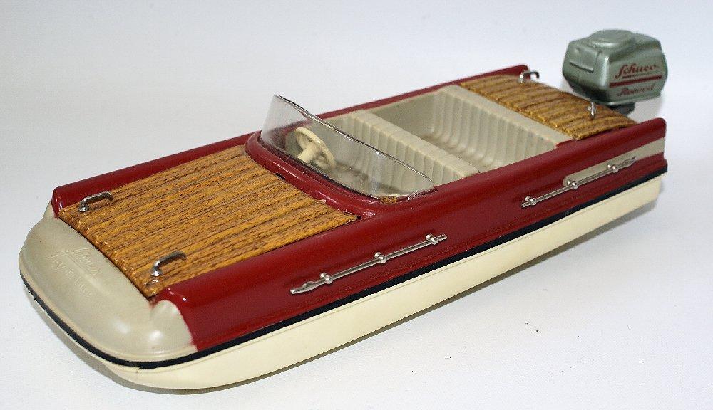 Vintage SCHUCO ELEKTRO RECORD 5555 Battery Op. Toy Boat - 3
